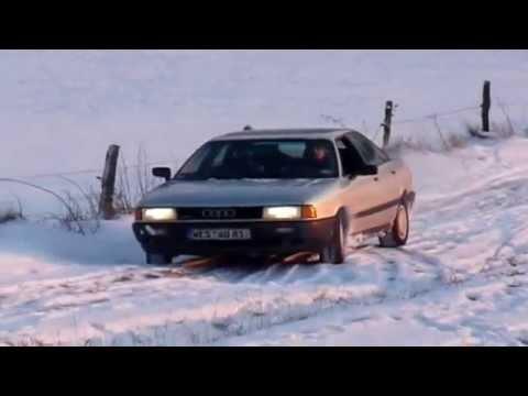 Audi 80 quattro im Schnee - das ist artgerechte Haltung! ;-)