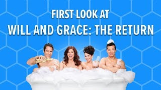 First look behind the scenes of Will and Grace (2017)