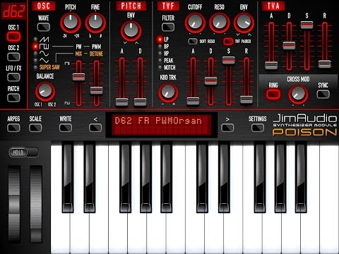 3 Minutes With POISON-202 Vintage Synthesizer - Demo for the iPad
