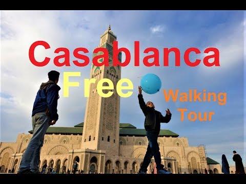 Casablanca Free Walking Tour Video and Map