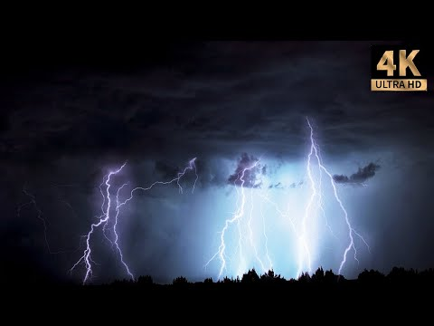 4 hours of rain and thunder, real storm sound for good sleep Thunderstorm #1