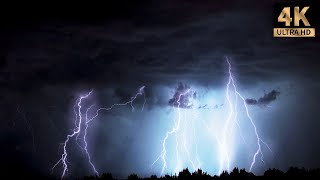 Download 4 hours of rain and thunder, real storm sound for good sleep |Thunderstorm #1 Mp3 and Videos