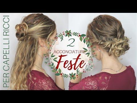 2 Acconciature per le FESTE per capelli RICCI/MOSSI | Silvia Viscardi