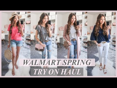 HUGE WALMART TRY ON CLOTHING HAUL | 10 AFFORDABLE SPRING OUTFITS 2019