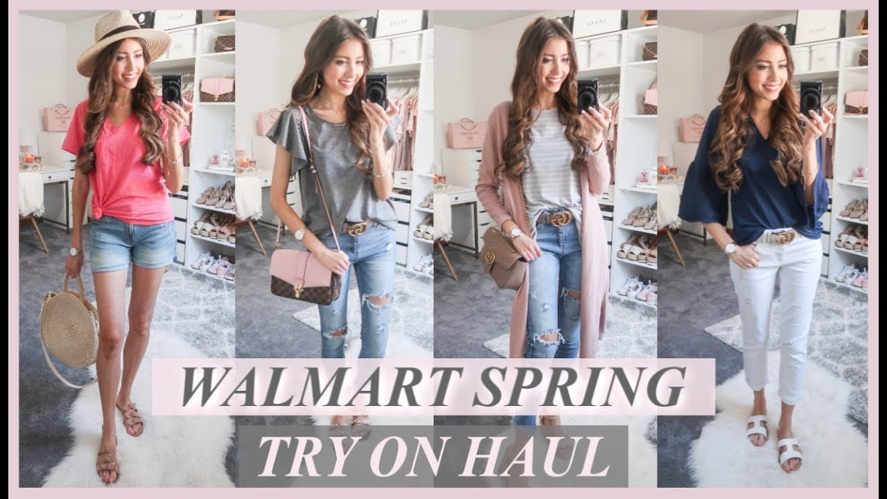 HUGE WALMART TRY ON CLOTHING HAUL | 10 AFFORDABLE SPRING OUTFITS 2019 3