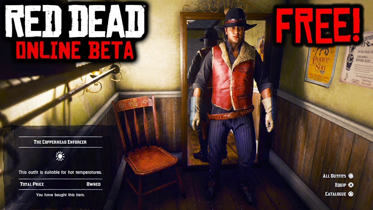 Free Exclusive Outfits Red Dead Online Unlocking Rare Outfits In