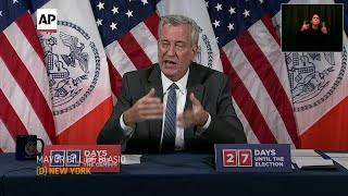NYC mayor: Respect rules or face 'consequences'