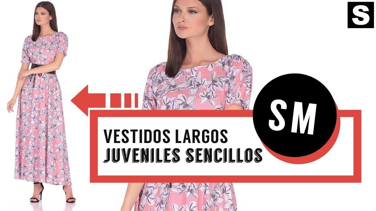 5ec0669ab Vestidos Largos Juveniles Sencillos 👗 ¡Magníficos Modelos! - YouTube