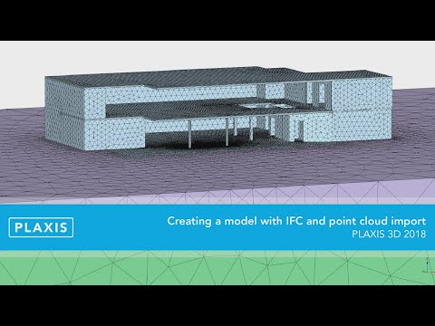 Plaxis | Creating a model with IFC and point cloud import - Plaxis