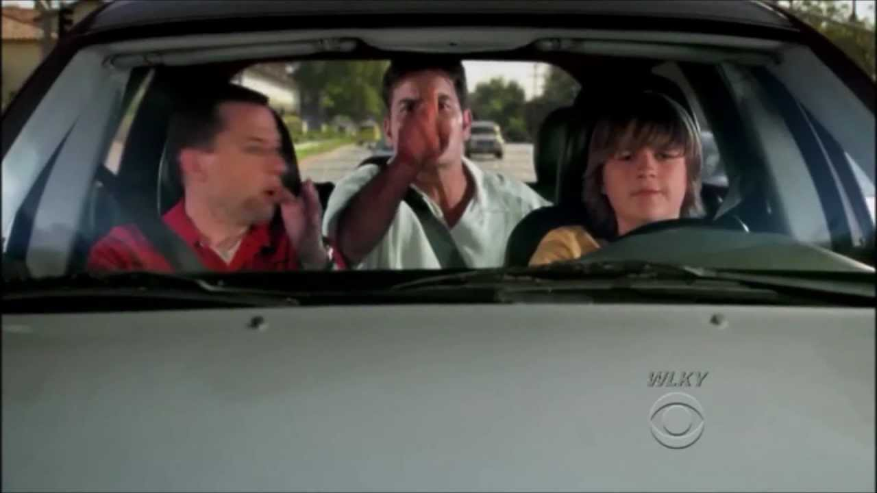 Two And A Half Men Jake Driving Charlie Wets Himself