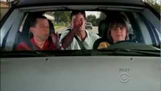 Two and a Half Men - Jake Driving: Charlie Wets Himself [HD]