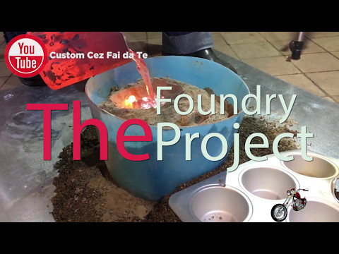 DIY Metal Foundry Project - Melting aluminum in a mini metal furnace -  Roma Custom Bike