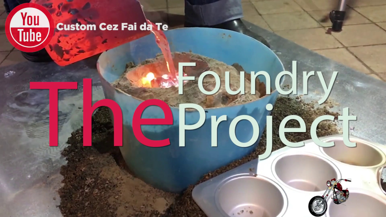 diy metal foundry project melting aluminum in a mini metal furnace