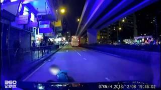 Man appears to fake road accident