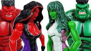 Hulk, She-Hulk Transformaton! Defeat The Thanos! Avengers, Spider-Man, Iron Man, Hulk, Ralph Toys!