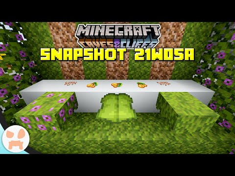 AZALEAS, DRIPLEAF, MOSS, GLOWBERRY, AND MORE!   Minecraft 1.17 Caves and Cliffs Snapshot 21w05a