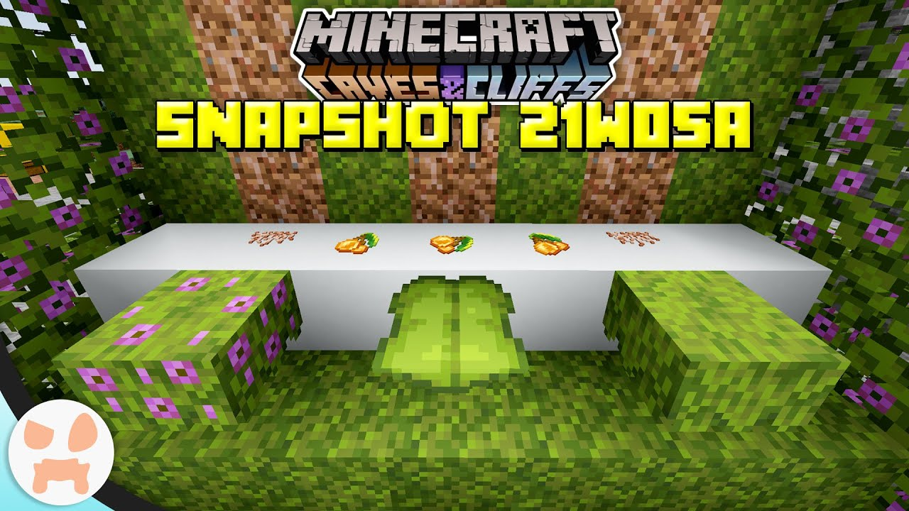 Download AZALEAS, DRIPLEAF, MOSS, GLOWBERRY, AND MORE!   Minecraft 1.17 Caves and Cliffs Snapshot 21w05a