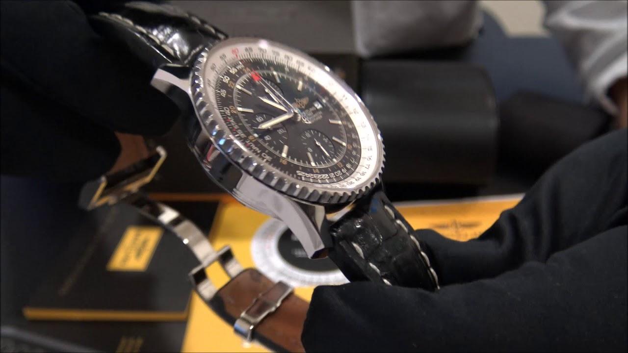 dca5a43d0 Breitling Navitimer World GMT Chrono 46 | WatchesGMT - YouTube