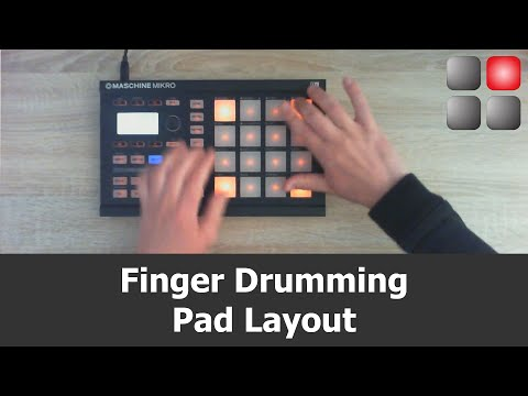 Finger Drumming Pad Layout