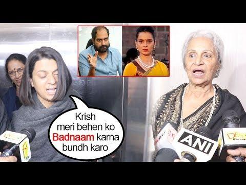Kangana Ranaut's Sister Rangoli' Slams Maikarnika Director Krish For CHEATING With Kangana