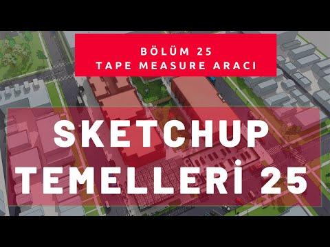 Sketchup Tape Measure Aracı 25