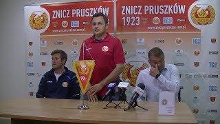 Znicz Pruszków - Garbarnia Kraków (pomeczowa konferencja)