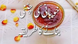 Khubani Ki Chutney Recipe In Urdu خوبانی کی چٹنی Apricot Chutney Dry Fruit Desserts | Winters