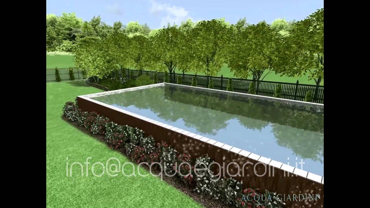 Acqua e giardini rendering progettazione giardino con for Rendering giardino