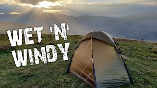 Wild camping in the rain and wind on Bowscale Fell