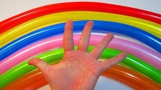 Песня семья пальчиков на русском воздушные шарики  Учим цвета Развивающее видео Песня для детей