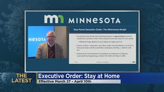 Gambar cover Gov. Walz Issues Executive Order Directing MN Residents To Stay At Home For 2 Weeks