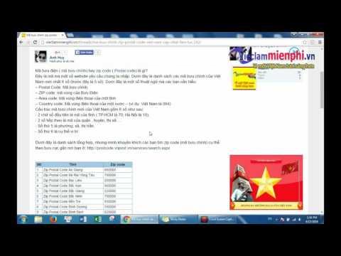 zip code postal code là gì? Mã bưu chính Việt Nam