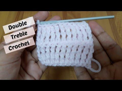 How to do double treble crochet? | !Crochet! - YouTube