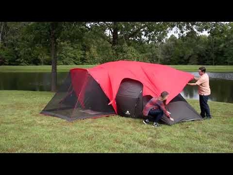 The Ozark Trail 10-Person Family Tent & The Ozark Trail 10-Person Family Tent - YouTube