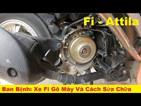 Xe kêu và gõ máy Kiểm tra sửa chữa xe tay ga Attila Fi phun xăng điện tử