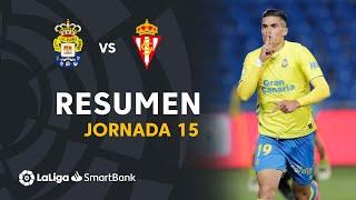 Resumen de UD Las Palmas vs Real Sporting (3-2)