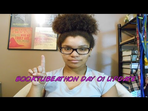 BOOKTUBEATHON 2015 DAY 01 UPDATE