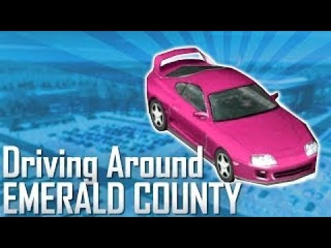 Cities: Skylines | Driving Around Emerald County (Driving Mod!)