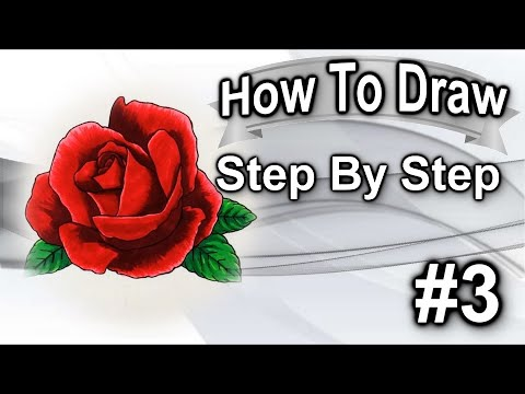 How To Draw A Rose Step By Step #3