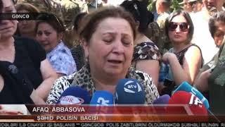 Gəncənin Şəhid polislərinin Vida Mərasimi.