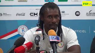M. Aliou Cissé Sélectionneur  national, Luxembourg vs Sénégal  0-0