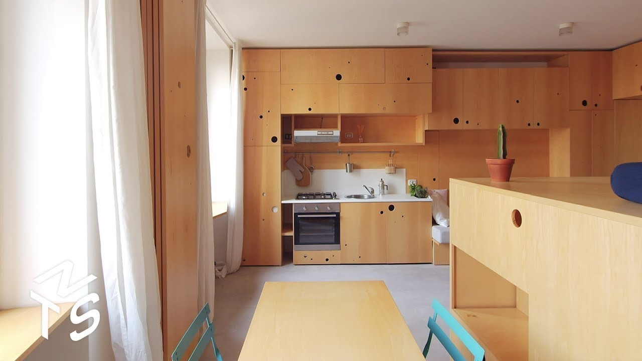 NEVER TOO SMALL Ep44 34sqm/365sqft Modular Micro Apartment - Brera