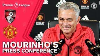 Jose Mourinho's Press Conference | Bournemouth v Manchester United | Premier League