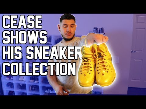 Cease finally showed me his sneaker collection (FIRE!!!!)
