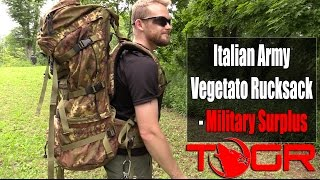 Best Military Pack? - Italian Army Vegetato Rucksack - Military Surplus