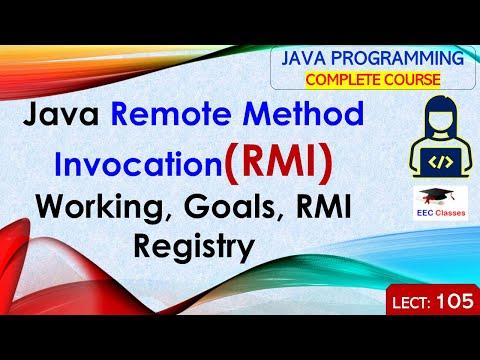 Java Remote Method Invocation(RMI), Working, Goals, RMI Registry - Java RMI in Hindi