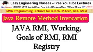 Java Remote Method Invocation(RMI), Working, Goals, RMI Registry - Java RMI in Hindi