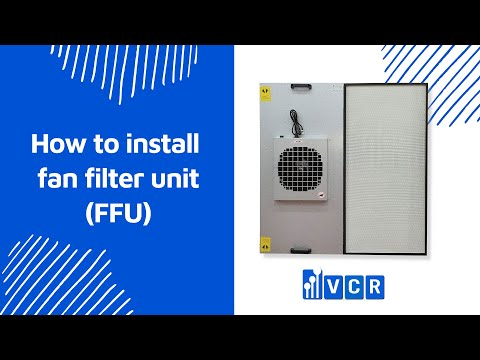How to install fan filter unit (FFU) at the ceiling system