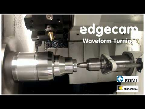 Romi & Kennametal Edgecam Partners Waveform Turning