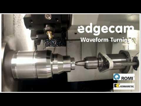 Romi và đối tác Edgecam Kennametal, Gia công tiện Waveform
